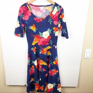 LuLaRoe Nicole blue floral Dress Size Medium